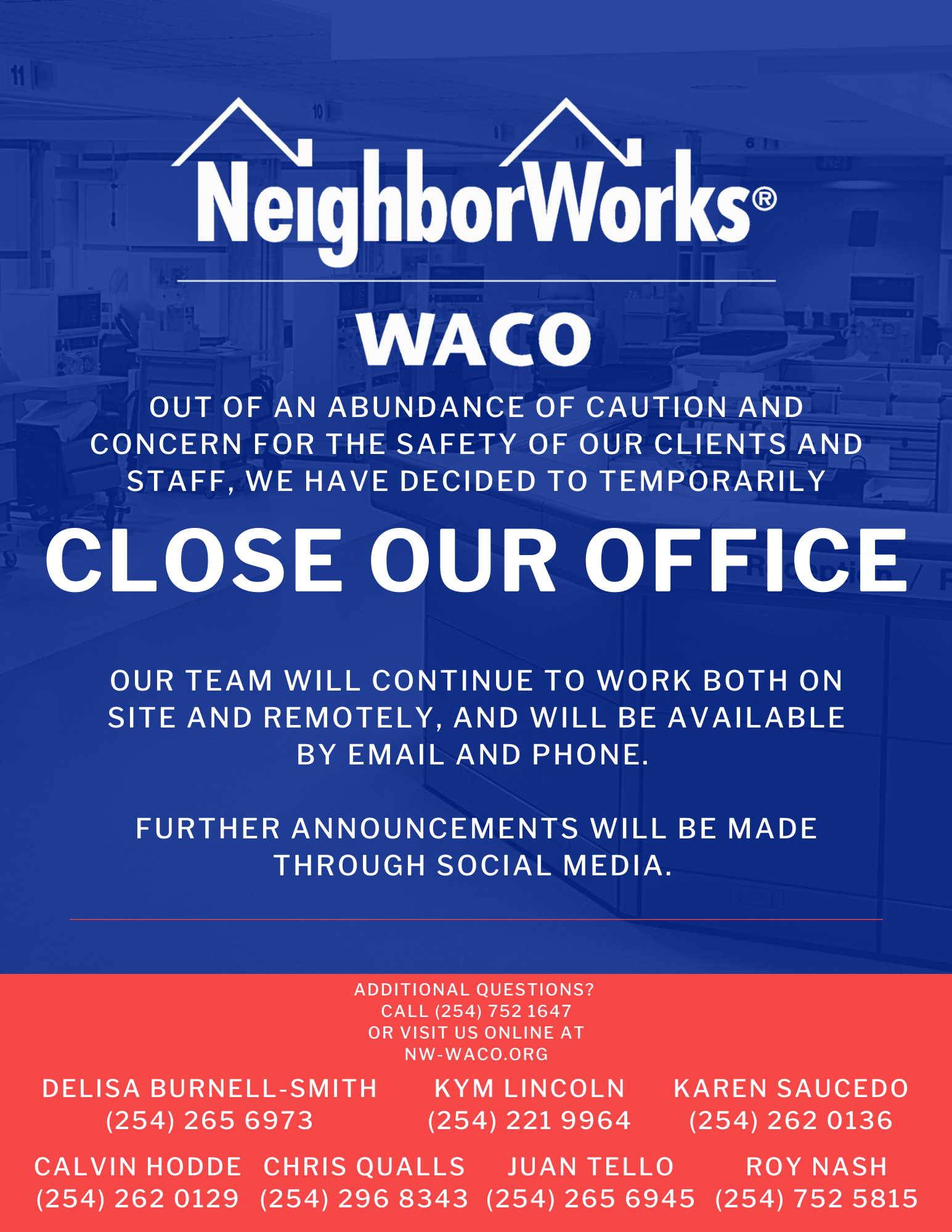 Copy of Offices are closed